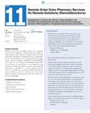 ++++ Remote Order Entry Pharma