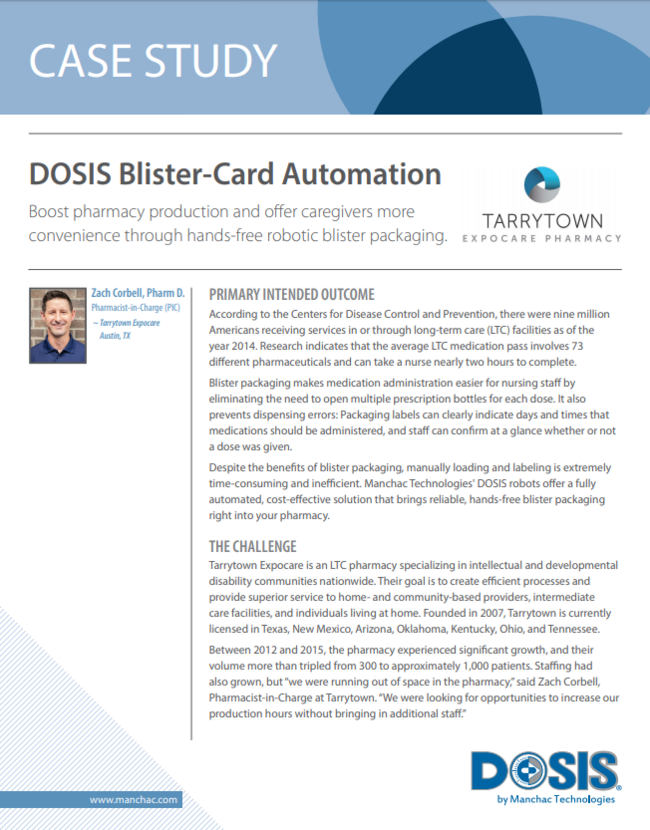 DOSIS Blister-Card Automation
