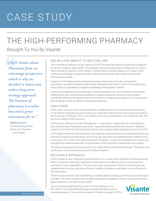 The High-Performing Pharmacy